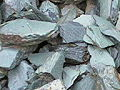 green oversize slate chippings